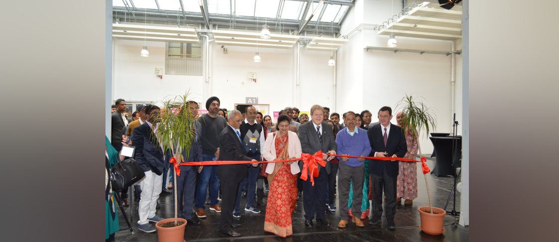 Inauguration of Opening Ceremony of India Leather Day by Consul General Ms. Pratibha Parkar and City Councillor of Offenbach Mr. Stephan Färber on 27th November 2019 at Messe, Offenbach.